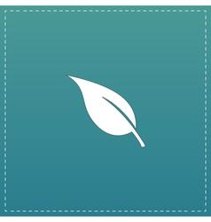 Leaf flat icon vector