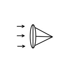 lens icon vector image vector image