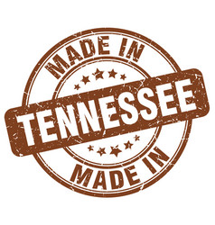 Made in tennessee brown grunge round stamp vector