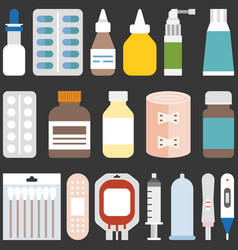 Medicine collection set 1 vector