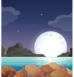 Moon landscape vector