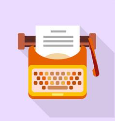 old typewriter icon flat style vector image