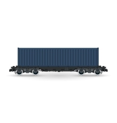 Platform with cargo container isolated vector