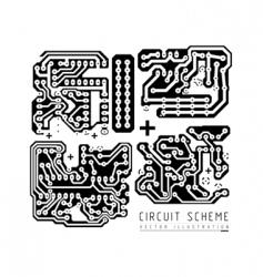 printed circuit board vector image vector image