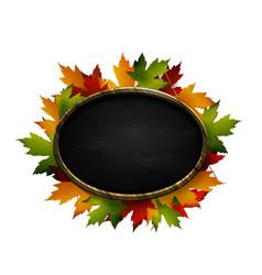 Realistic of autumn chalk board vector