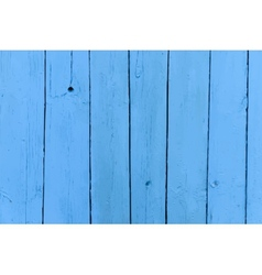 Realistic old wooden painted blue background vector