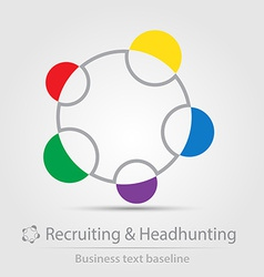 Recruiting and headhunting business icon vector