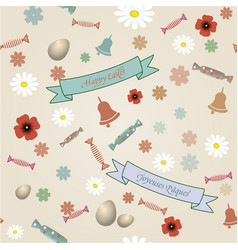 Retro easter seamless pattern vector