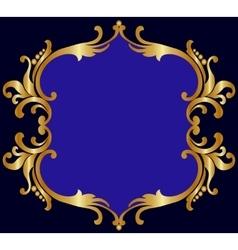 Royal golden frame vector