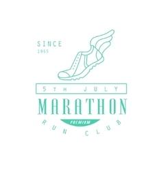 Run club green label design vector