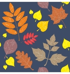 Seamless leaf ornament 548 vector image vector image