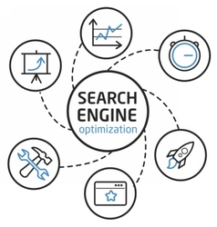 Search engine optimisation vector image
