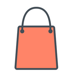 Shopping bag pixel perfect thin line icon 48x48 vector