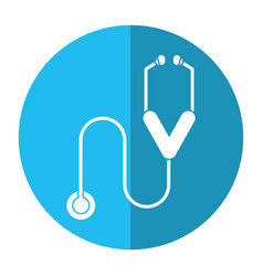 Stethoscope medicine health equipment shadow vector