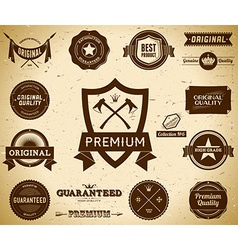 Vintage labels collection 6 vector