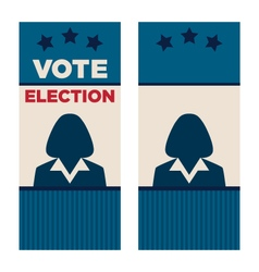 Woman president election brochure covers vector