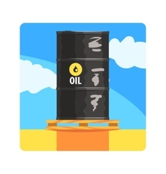 Oil barrel famous touristic attraction of united vector
