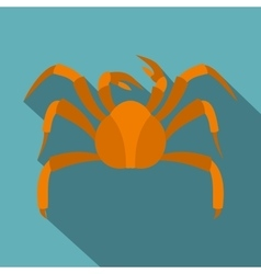 Big crab icon flat style vector