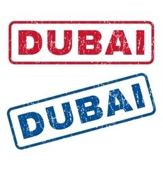 Dubai rubber stamps vector