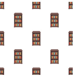 Bookcase with books icon in cartoon style isolated vector