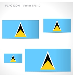 Saint lucia flag template vector