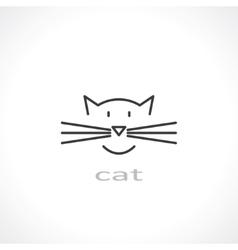 Cat symbol vector