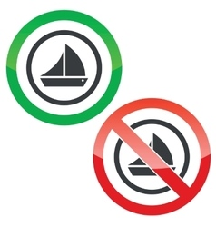 Sailing permission signs vector
