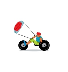 Kite buggy sport sign vector