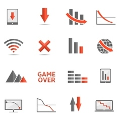 Crisis icons vector