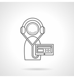 Online courses recording line icon vector