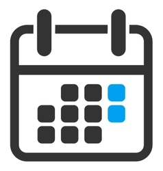 Calendar weekend icon vector