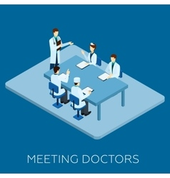 Doctor meeting concept vector