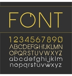 Linear font line style font with a numeral vector