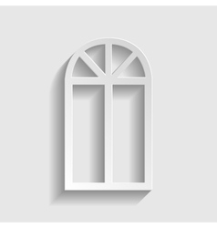 Window simple icon vector