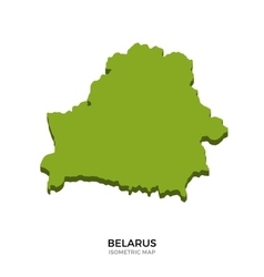 Isometric map of belarus detailed vector