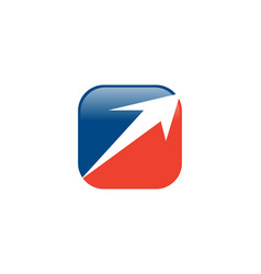 arrow box logo vector image