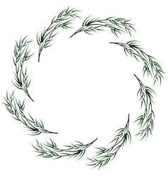 Bamboo circular frame vector