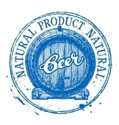 Beer ale logo design template shabby vector