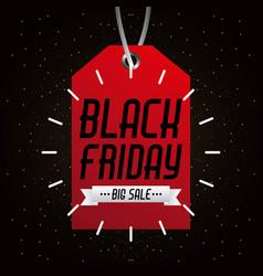 black friday big sale tag marketing inscription vector image vector image