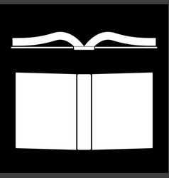 Book it is the white color icon vector