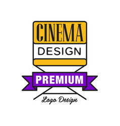 colorful cinema or movie logo cinematography vector image vector image