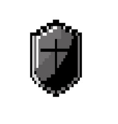 Contour video game shield protection element icon vector