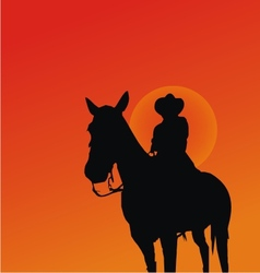 Cowboy Silhouettes vector image