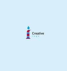 Development of creative logo typography letter i vector