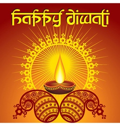 Diwali greeting background vector image