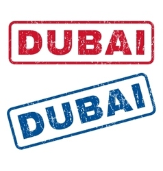 Dubai rubber stamps vector