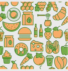Farmers market seamless pattern vector