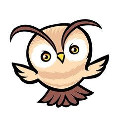 Flying owl cartoon vector image