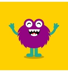 funny monster character icon vector image