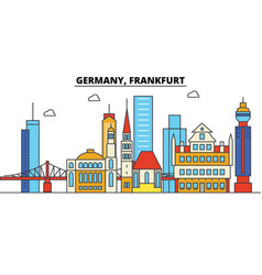 germany frankfurt city skyline architecture vector image